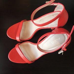 Aldo strappy orange 🍊 shoes 8.5